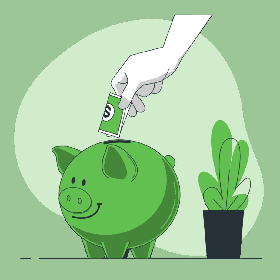 Quite suas dívidas primeiro para que assim você consiga guardar dinheiro tranquilamente.