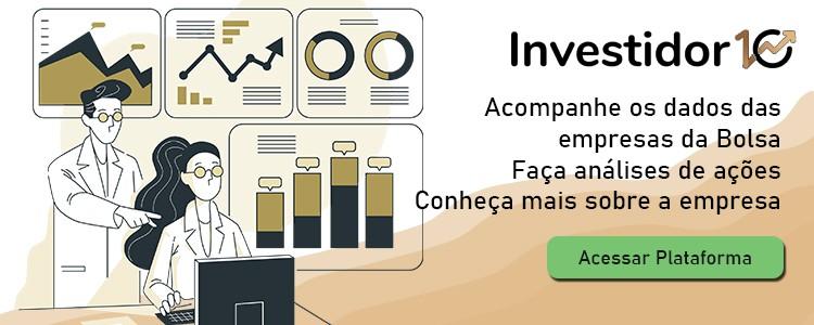 Investido10 é uma plataforma que te mostra os principais indicadores de análises de ações das empresas da Bolsa.